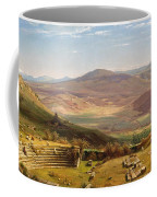 The Amphitheatre Of Tusculum And Albano Mountains. Rome Coffee Mug