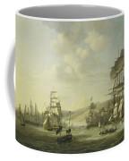 The Anglo Dutch Fleet In The Bay Of Algier Coffee Mug