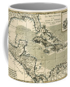The Antilles And The Gulf Of Mexico Coffee Mug by Guillaume Raynal