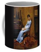 The Artist Wife And His Setter Dog 1889 Coffee Mug
