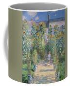 The Artists Garden At Vetheuil Coffee Mug