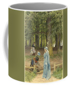 The Artist's Wife And Daughters In A Park At Heringsdorf Coffee Mug