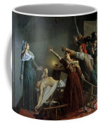 The Assassination Of Marat Coffee Mug by Jean Joseph Weerts