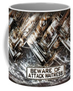 The Attack Waitress  Coffee Mug