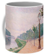 The Banks Of The Seine At Neuilly 1886 Coffee Mug