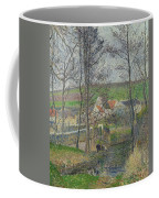 The Banks Of The Viosne At Osny In Grey Weather, Winter Coffee Mug