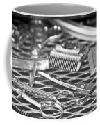 The Barber Shop 10 Bw Coffee Mug by Angelina Vick