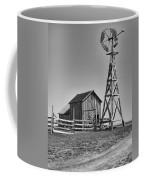 The Barn And Windmill Coffee Mug