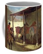 The Barn Of Marechal-ferrant Coffee Mug by Theodore Gericault