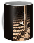 The Baseball Fan Sepia Coffee Mug
