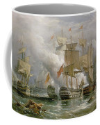 The Battle Of Cape St Vincent Coffee Mug by Richard Bridges Beechey