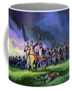 The Battle Of Saratoga, Showing A General Attack Led By Brigadier Arnold Coffee Mug