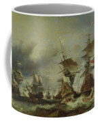 The Battle Of Texel Coffee Mug by Louis Eugene Gabriel Isabey