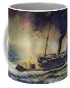 The Battle Of The Gulf Of Riga Coffee Mug by Mikhail Mikhailovich Semyonov