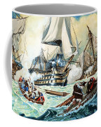 The Battle Of Trafalgar Coffee Mug by English School