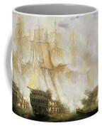 The Battle Of Trafalgar Coffee Mug by John Christian Schetky