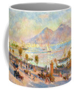 The Bay Of Naples With Vesuvius In The Background Coffee Mug