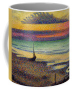 The Beach At Heist Coffee Mug by Georges Lemmen