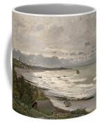 The Beach At Sainte Adresse Coffee Mug by Claude Monet