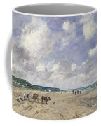 The Beach At Tourgeville Coffee Mug by Eugene Louis Boudin