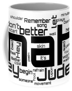 The Beatles - Hey Jude Lyrical Cloud Coffee Mug