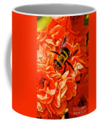 The Bee And The Flower Coffee Mug