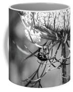 The Beetle Acrobat Black And White Coffee Mug