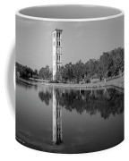 The Bell Tower Reflections B W Furman University Greenville South Carolina Art Coffee Mug