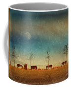 The Benches By The Moon Coffee Mug