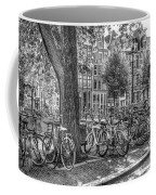 The Bicycles Of Amsterdam In Black And White Coffee Mug