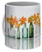 the Blooming yellow Ornithogalum Dubium in a transparent bottle instead vase Coffee Mug