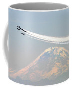 The Blue Angels Over Mount Rainier Seattle Coffee Mug