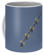 the Blue Angels performs the Left Echelon Roll Coffee Mug