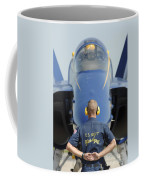 the Blue Angels waits for a signal from his pilot  Coffee Mug