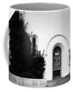 The Blue Door B And W Coffee Mug