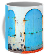 The Blue Door Shutters Coffee Mug