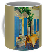 The Blue Shutters Coffee Mug by Elise Palmigiani