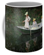 The Boat At Giverny Coffee Mug by Claude Monet