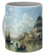 The Boat House At Hamburg Harbour Coffee Mug by Valentin Ruths
