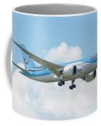 The Boeing 787-8 G-tuif Landing Thomson Tui Airline Coffee Mug