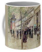 The Boulevard Montmartre And The Theatre Des Varietes Coffee Mug