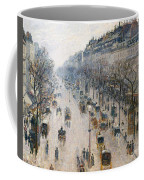The Boulevard Montmartre On A Winter Morning, 1897  Coffee Mug