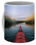 The Bow Of A Kayak Points The Way Coffee Mug by Skip Brown