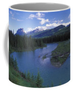 The Bow River And Castle Mountain Coffee Mug