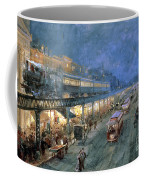 The Bowery At Night Coffee Mug