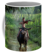 The Boy Playing The Red Violin In Thailand, Asia Coffee Mug