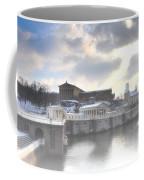The Breaking Sun Over Philadelphia Coffee Mug by Bill Cannon