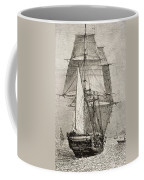 The Brig Hms Beagle From Journal Of Coffee Mug