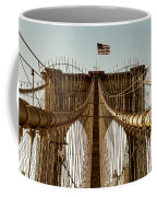 The Brooklyn Bridge Flag Coffee Mug