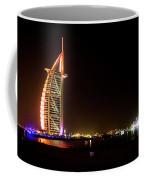 The Burj Al Arab At Night Coffee Mug